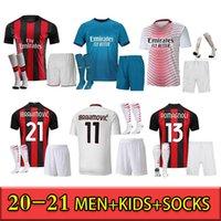 مراوح نسخة AC Soccer Milan Balr. الفانيلة 2021 إبراهيموفيتش Tonali Mandzukic Kessie Paqueta Bennacer الرجال Kid Kits قمصان تدريب كرة القدم