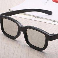Glasses Universal Passive Circular 3D Polarized Movie Unisex ABS Frame Stereo Not Flash For TV Cinemas