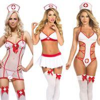 Women Hot porn Nurse Cosplay costumes Babydoll White Edge Erotic Lingerie Sexy underwear Lenceria Erotica