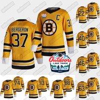 37 Patrice Bergeron Boston Bruins 2021 Ao Ar Livre Domingo Retro Jersey Trent Frederic David Pastrnak Craig Smith David Krejci Brad Marchand