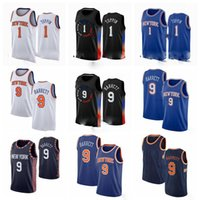 1 OBI Toppin 9 RJ Barrett 30 Randle New YorkKnicks.Mitchell 2020-21 Black City Basketball Jersey S-3XL