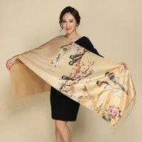 Luxury Designer Ladies Big Scarf Women Brand Wraps Double-deck Thickening Brush Cashmere Silk Winter Warm Shawl Scarves