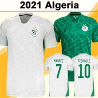 2021 ALGERIA MAHREZ FEGHOULI MENS FOCZER TOFFER AFRIKA TOP Zwei Sterne Slimani Bennacer Atal Wohnung Fußball Hemd Kurzarm