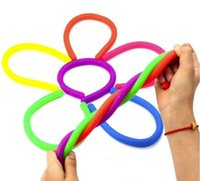 6 colors for choice Fidget Abreact Decompression Rope Flexible Glue Noodle Ropes TPR Hyperflex Stretchy String Neon slings toys