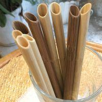 5 pcs / set eco amigável bolha apontou smoothie reutilizável bambu s grande boba de boba beber pincel de palha