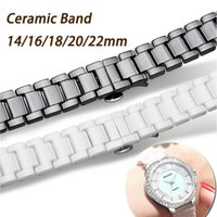 Watch Bands Watchband White Black Ceramic Strap 14mm 16mm 18mm 20mm 22mm Band For Huawei Smart GT2 watch 2pro Samsung