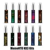 Memento K03 Engångs Pod-enhet 850MAH 1500 Puffs 4.8ml Förfylld Vape Pen Stick Bar Starter Kit med RGB-ljus 100% äkta