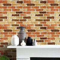 Wallpapers 6M Retro Nostalgic 3D Self-Adhesive Living Wallpaper Imitation Brick Pattern Waterproof Wall Sticker Home Decor