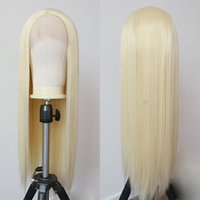 Synthetic Wigs Blonde Lace Front Wig Long Straight For Women Cosplay Heat Temperature Glueless High Density