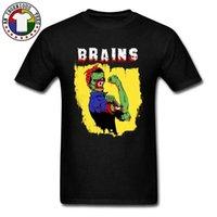 추한 뇌 Zombie 100 % Coon Adul Shor 슬리브 Shir 일반 가을 시어 Sylish Tops 티셔츠 클래식 O 넥 티셔츠 [snflxpg@163.com