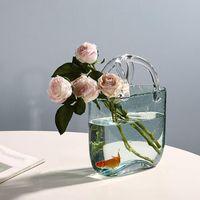 Vazolar Çiçek Vazo Düğün Dekor Için Centerpiece Cam Gül Masa Süsler El Yapımı Masa Mariage
