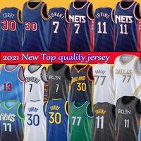 Kevin 7 Durant Irving 11 Harden 13 Kyrie Basketbol Forması Doncic 77 Luka Köri 12 Formalar Stephen Thompson 33 Wiseman Erkekler Klay Kristaps 6 Porzingis Gömlek
