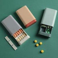 Новый дизайн Pill Case Portable Nordic Pill Box Fact Tablet Medic StriquiTer Держатель Splitter Организатор Контейнер Чехол для бесплатного DHL