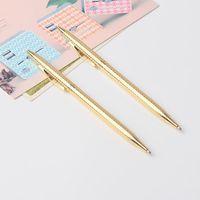 Ballpoint Pens 1PCS Metal Signing Pen Stainless Steel Rod Rotating 0.5mm Ballpen School Office Supplies Stationery