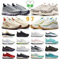 air max 97 ayakkabı Mens kadın Koşu Ayakkabıları Siyah Kırmızı Beyaz Eğitmen Yastık Yüzey Nefes Spor sneaker Ayakkabı boyutu 36-45
