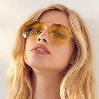 Metal Night Vision Azul Luz à prova de óculos de sol 3025 óculos de sol de óculos piloto óculos de sol e mulheres óculos de sol