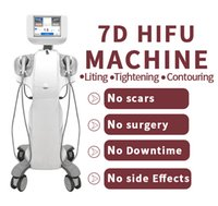 Latest Double Handle Focused Ultrasound 7D Hifu Slimming Machine Face Lifting Anti-aging 20000 shots 7 Cartirdges Anti-Wrinkle Skin Firming Body Fat Removal devices