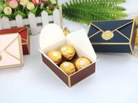 Forma de envoltura Caja de embalaje Favoritos Bolsas de caramelo Cosmetic Boda Cumpleaños Fiesta Creativa Bronceado Candy Cajas