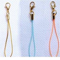 50 unids mulitcolor oro langosta corchete (12 mm) correa de cordón correa de cordón (5 cm) Correas móviles Charm Nylon Llavero Cadena DIY JLLLRLD