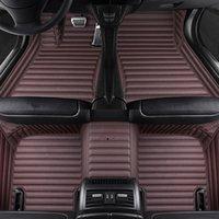 VW 폴로 세단 골프 Tiguan Jetta Touran Toureg Beetle RHD LHD 액세서리 용 맞춤형 5 좌석 자동차 바닥 매트