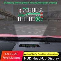 QHCP Baş Up Ekran Araba HUD Navigasyon Ekran Güvenli Sürücü Hız Hatırlatma Cam Projektör Ford Mustang 2015-2019