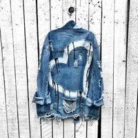 Women's Jackets Denim Jacket Women Oversize Long Sleeve Button Down Shirt Autumn Casual Streetwear Plus Size Outerwear Heart Print Jeans