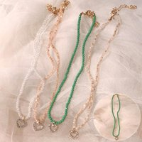 Chains Necklace Love Rhinestone Clavicle Chain Niche Light Luxury Crystal Accessories Neck Pendant For Women