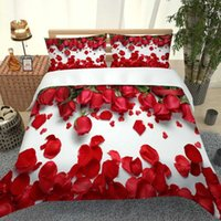 Bedding Sets 3D Digital Printing Personality Design Version Red Rose Quilt Cover Pillowcase Children Adult Size