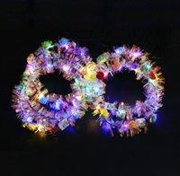 Party Supplies LED Hair Hoop LEDs Light Up Hair-Wreath Hairband Garlands Christmas Glowing Festive Flower Headband Cat Ears Hairbands SN2807