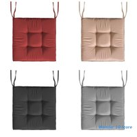 Cushion Decorative Pillow Square Solid Color Seat Cushion With Non-Slip Ties Water-Resistant Outdoor Patio Thickened Chair Pads Floor Cover