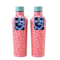 패션 16oz 스테인레스 스틸 텀블러 사랑스러운 꽃병 모양 크리 에이 티브 음료 맥주 머그잔 커피 컵 뚜껑 도매