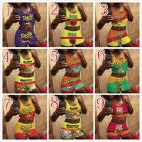 النساء قطعتين اليوغا السراويل الكرتون 3d المطبوعة مثير الدعاوى سترة السراويل انقسام السيدات جديد أزياء الرياضية oufits D371