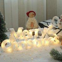 عيد ميلاد سعيد رسالة ضوء تسجيل زينة عيد الميلاد أدى فانوس عيد الميلاد جارلاند شنقا أضواء DHF11440