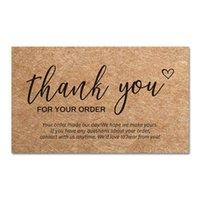Grußkarten 30pcs / Pack 250gsm Natürliches Kraftpapier Vielen Dank für Ihre Bestellung Kleine Shop Geschenkpaket Dekorationskartengeschäft