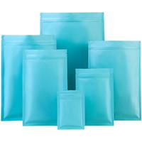 Vários tamanhos Cosmetic Power Flat Bottom Sky Bolsas de Embalagem Presentes Feriado Mylar Folha De Embalagem De Embalagem Saco De Fechamento Erva e Medicina De Armazenamento Malotes