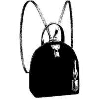 العلامة التجارية M44944 القمر حقيبة الظهر أزياء المرأة نصف القمر الظهر مدرسة السفر الأمتعة اسم keybell اسم علامة التسمية