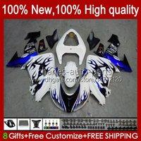 Motorcycle Bodys For KAWASAKI NINJA ZX 10R 10 R 1000 CC ZX10R 06 07 Bodywork 14No.92 ZX-10R ZX1000 1000CC 2006 2007 ZX1000C ZX1000CC 2006-2007 Fairing Kit blue flames