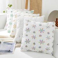 스팽글 던지기 베개 케이스 크리스마스 눈송이 5 색 소파 침대 거실에 대 한 봉제 장식 쿠션 커버 HWB9575