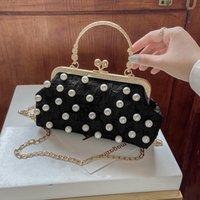 Evening Bags Female Pearl Handbag Wedding Clutch Bag Dress Dinner Small Purse Bridesmaid White Black Bolsas