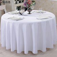 Wedfavor 1 шт. Круглая полиэстер Таблица ткань Свадебный стол Крышка отеля Банкетный обеденный белье для домашнего вечеринка Украшение событий