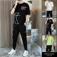 Men's Tracksuits 2021 Sport Suit Running Sets Clothes Sports Joggers Training Gym Fitness Man Set T SHIRT + Pants