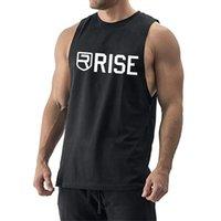 브랜드 Mens 민소매 T 셔츠 여름 코튼 남성 탱크 탑스 체육관 의류 보디 빌딩 undershirt 금 피트니스 탱크 티셔츠