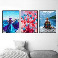 Chenistory 3 pz donna figura pittura di numeri per adulti per adulti 40x50cm frame casa soggiorno decorazione decorazione opere d'arte