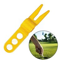 Golf Training Aids 1pcs Green Fork Aluminum Alloy Accessories Putting Outdoor Relief Pitch Tool N6e3