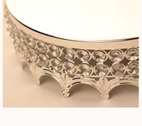 Party Decoration European Style Dia 30cm Mirror Crystal Cake Stand Wedding Birthday Table Centerpiece Events