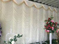 Decoración de la fiesta 3 * 6M Divisor de pared Voile Decoración de la boda con Swag Romántico para el escenario Techo Techo Cortina Panel