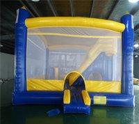 Material inflável da proteção ambiental do jogo de segurança de Bouncer Material inflável de Bounding Bouncy Bouncy House com corrediça
