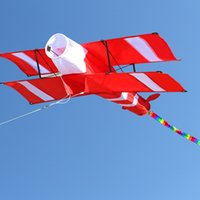 جديد جودة عالية 3d خط واحد الأحمر الطائرة طائرة ورقية رياضية شاطئ مع مقبض و سلسلة سهلة للطيران المخرج مصنع