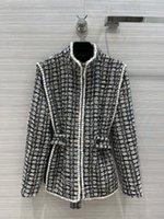 Milan Pist Ceketler 2021 Sonbahar Kış Uzun Kollu Standı Yaka kadın Tasarımcı Mont Marka Aynı Stil Giyim 0820-1