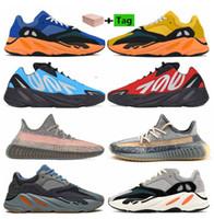 700 Sun SaffLower MNVN Ola inercial 2021 V2 Fade Fade Ash Blue Ash Stone Stone Sulphur Zyon Shoes Static V2 Hombres Mujeres Zapatos Zapatillas de deporte